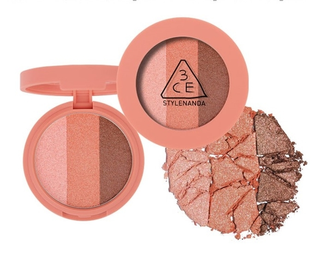 Phấn mắt 3 màu 3CE Triple Shadow #Burnt Peach