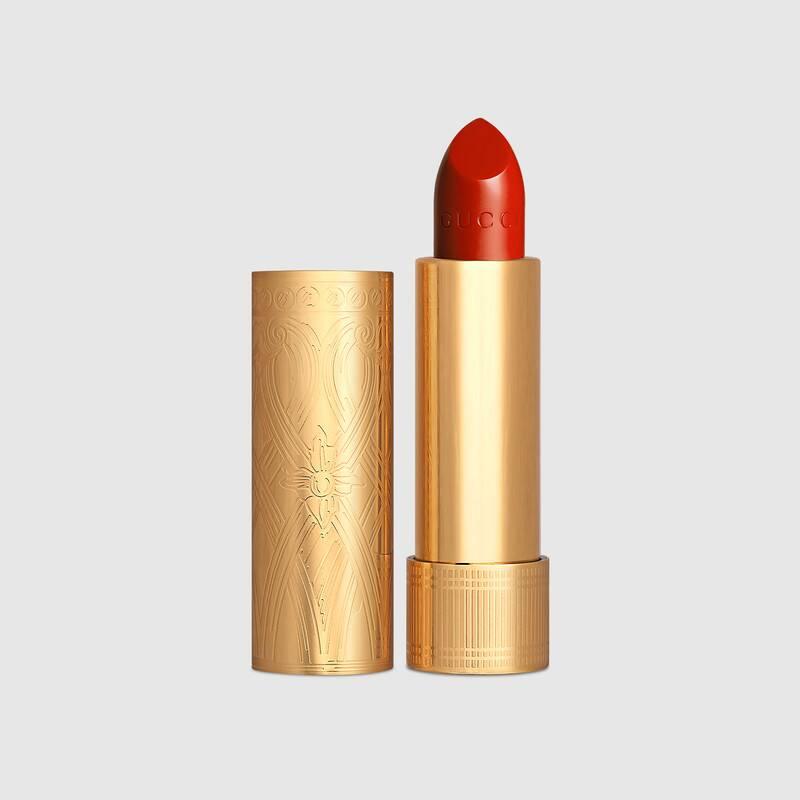 Son Gucci Rouge À Lefvres Mat #501 Constance Vermillon