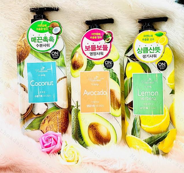 Sữa tắm On The Body The Natural Plus Lemon Verbena  Body Wash 900g