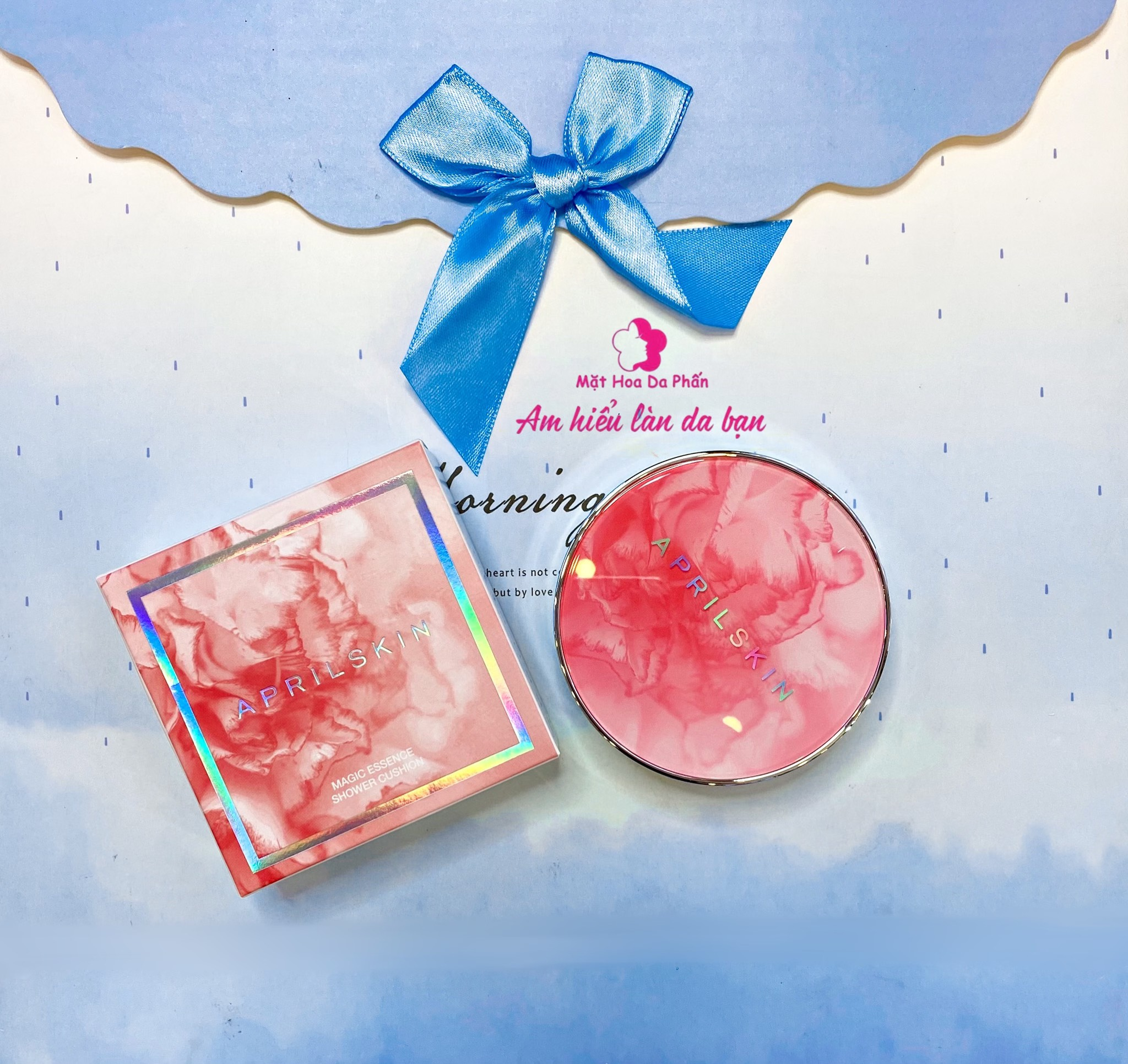 Cushion April SKin Magic Essence Shower #21 (Hồng Marble)