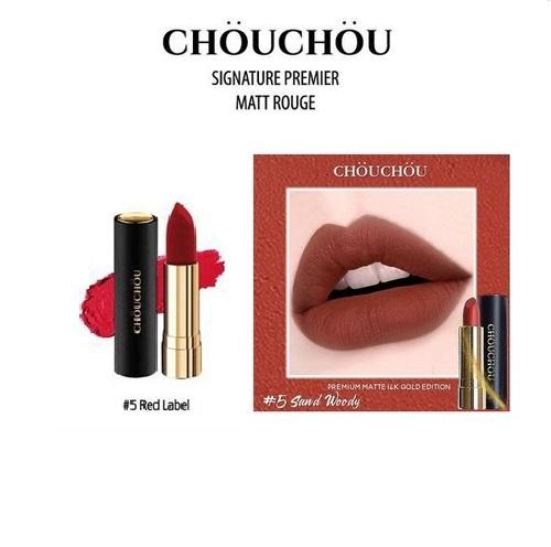 Son Chou Chou Premium Matte 14K Gold Edition #05 Sand Woody