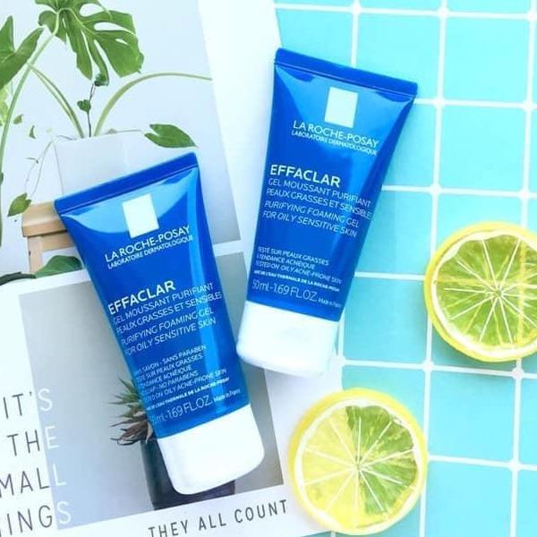 SRM La Roche-Posay Effaclar Purifying Foaming Gel for Oily Sensitive Skin  50ml Mặt Hoa Da Phấn