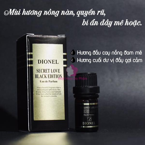 Nước Hoa Dionel Secret Love Black Edition 5Ml