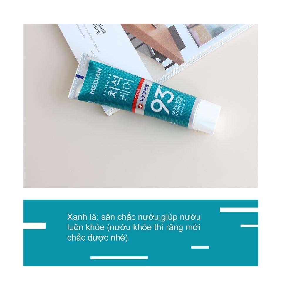 Kem Đánh Răng Cho Răng Sâu, Nhạy Cảm Median Dental 93% (Xanh Ngọc) 120g