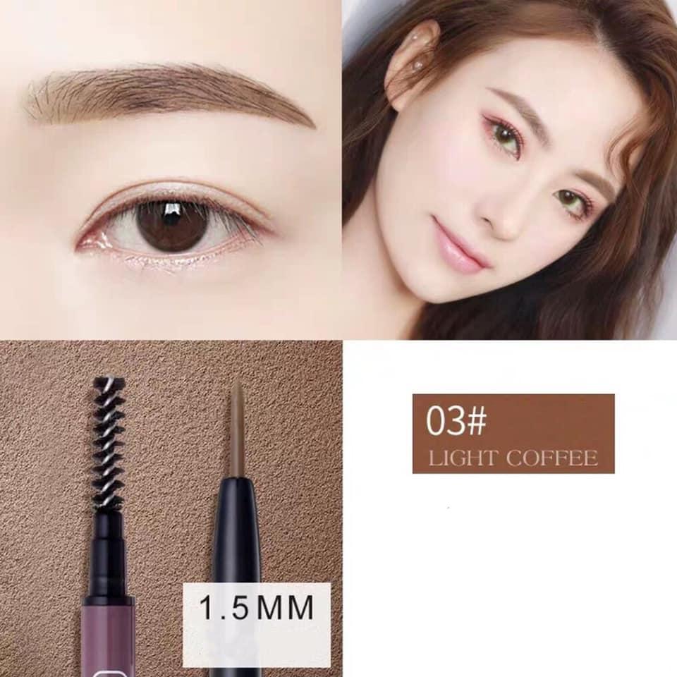 Kẻ Mày Novo Molandi's Flexible Eyebrow No.5286 #03 Light Brown
