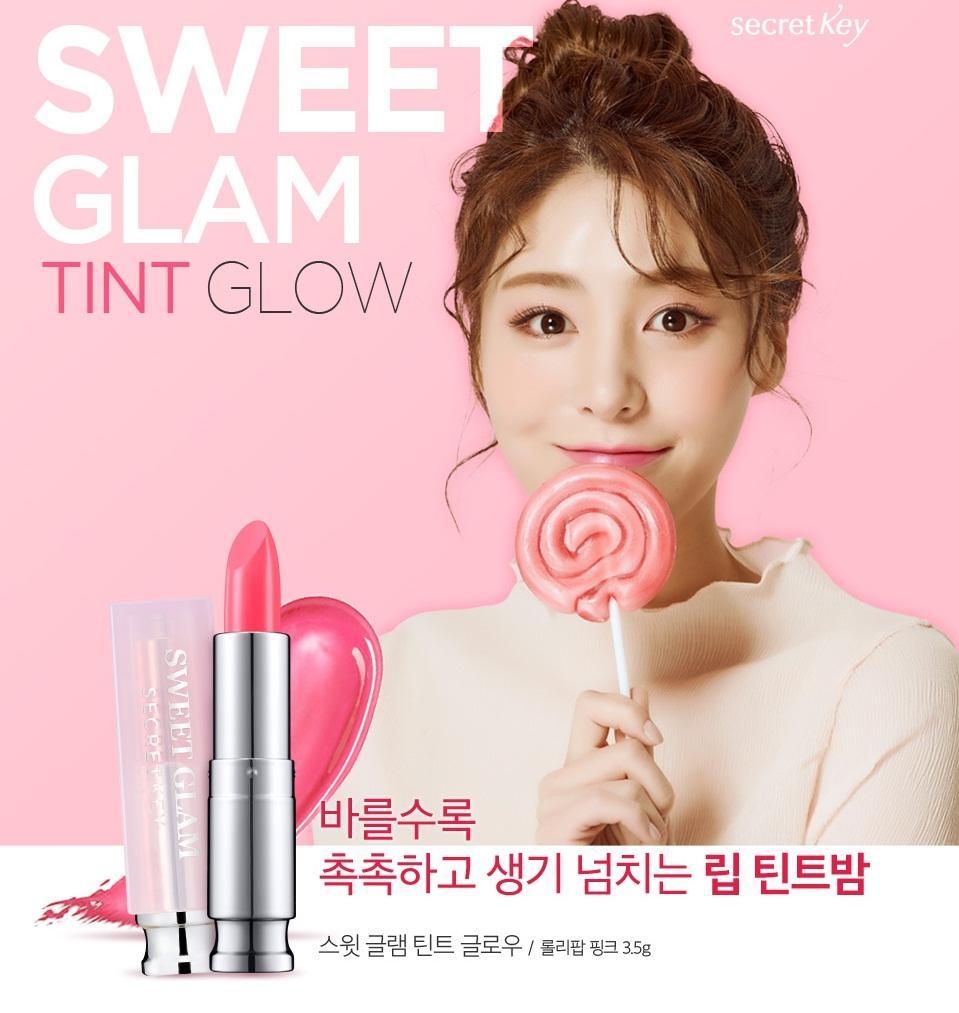 Son Secret Key Sweet Glam Tint Glow #Lollipop Pink