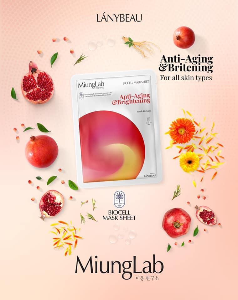Mặt Nạ Miung Lab Biocell Mask Anti-Aging & Brightening (Đỏ)