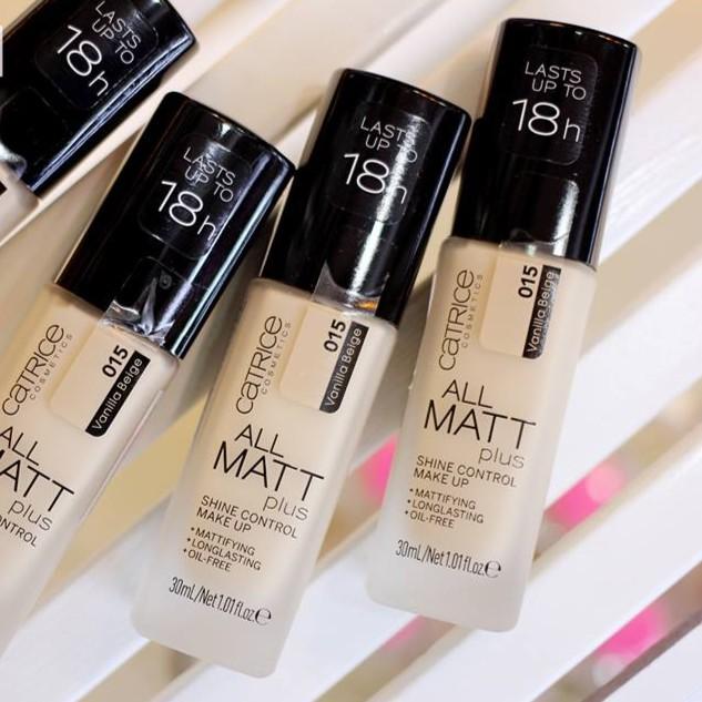 Kem Nền Catrice All Matt Plus Shine Control 18h 30ml #015 Vanilla Beige