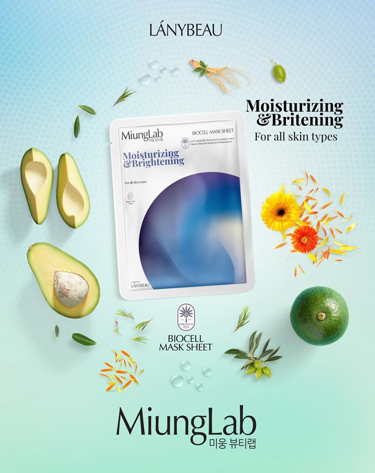 Mặt Nạ Miung Lab Biocell Mask Moisturizing & Brightening (Xanh)