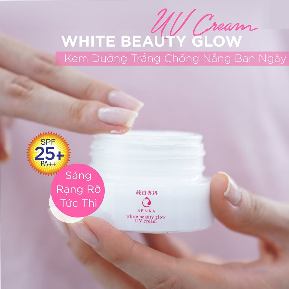 Kem Dưỡng Senka White Beauty Glow Gel Cream 50g