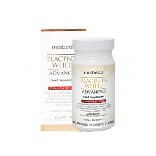 TPCN Viên Uống Trắng Da Mosbeau Placenta White Advanced (120V)