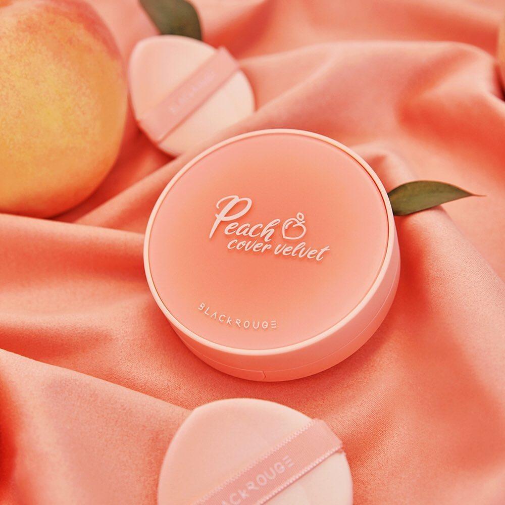 Cushion Black Rouge Peach Cover Velvet No.CP01 (Hộp)