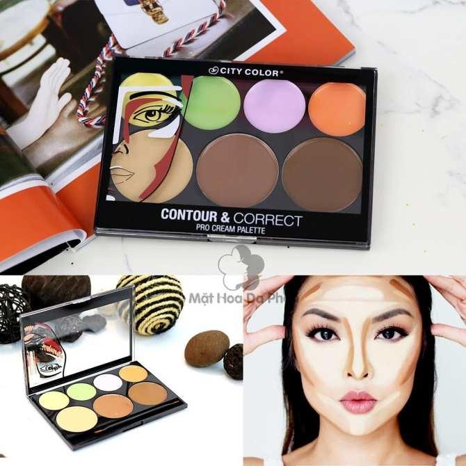 Tạo Khối Contour & Correct Cream Palette City Color 22.5G