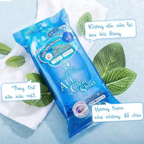 Khăn Giấy Tẩy Trang Senka All Clear Sheet 10 miếng