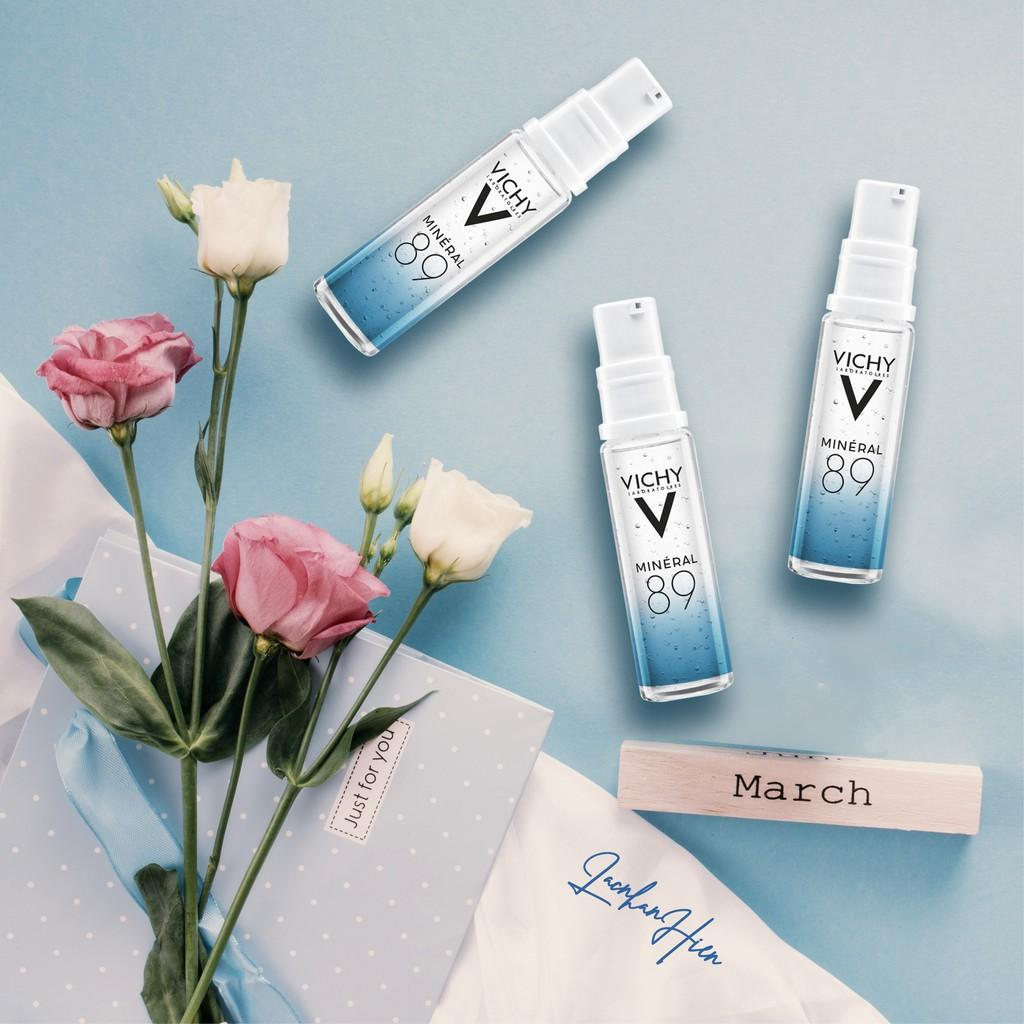 Set Sữa Rửa Mặt Vichy Ideal White Brightening Deep Whitening Cleansing Foam (100ml)( tặng kèm vichy 89)