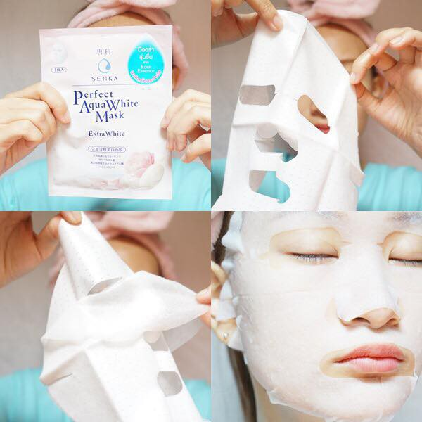 Mặt Nạ Senka Perfect Aqua White #Extra White 1 miếng
