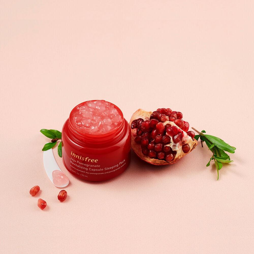 Mặt Nạ Ngủ Chống Oxy Hóa Lựu Innisfree Jeju Pomegranate Revitalizing Capsule Sleeping Pack 70g