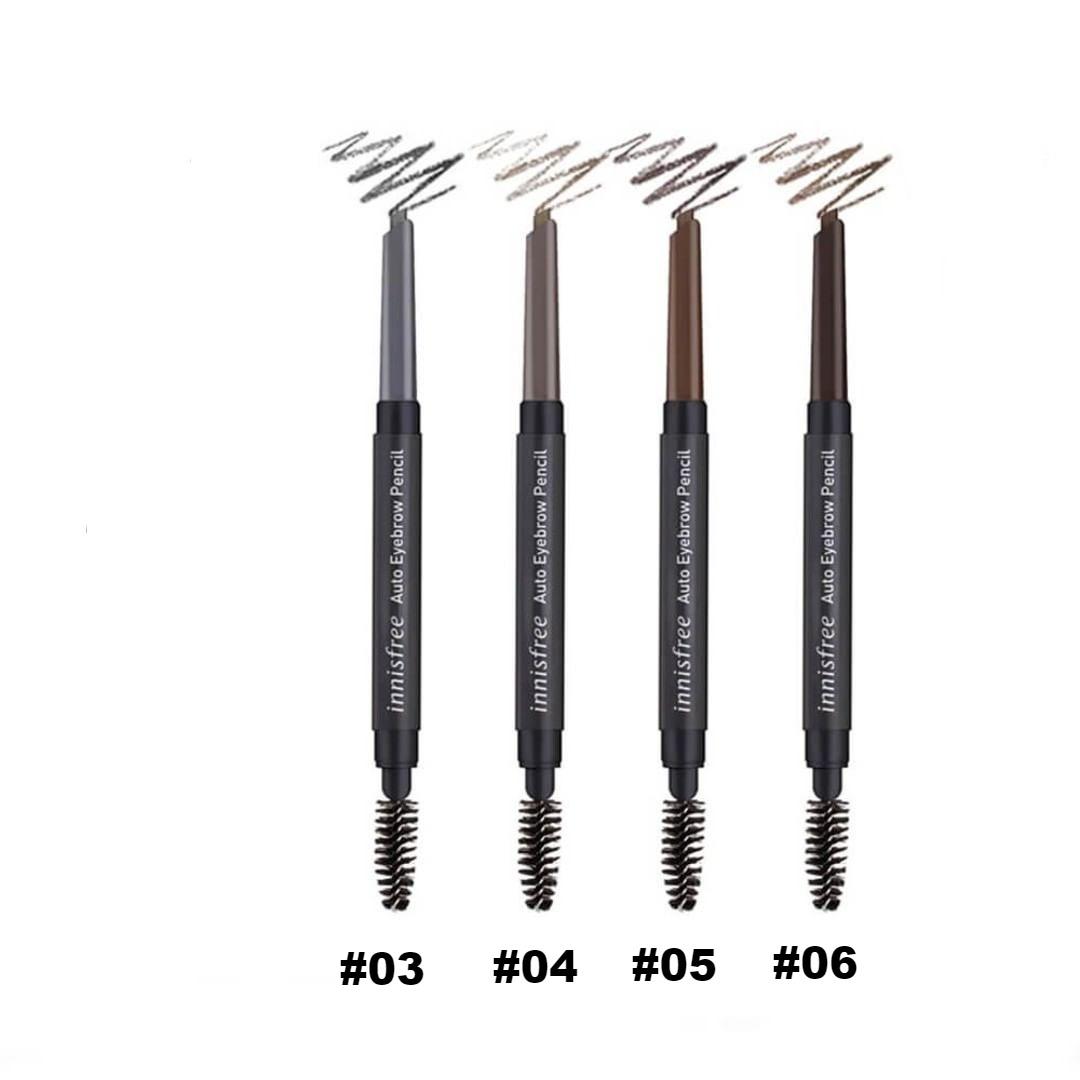 Chì Mày Innisfree Auto Eyebrow Pencil (Vỏ Đen) #03