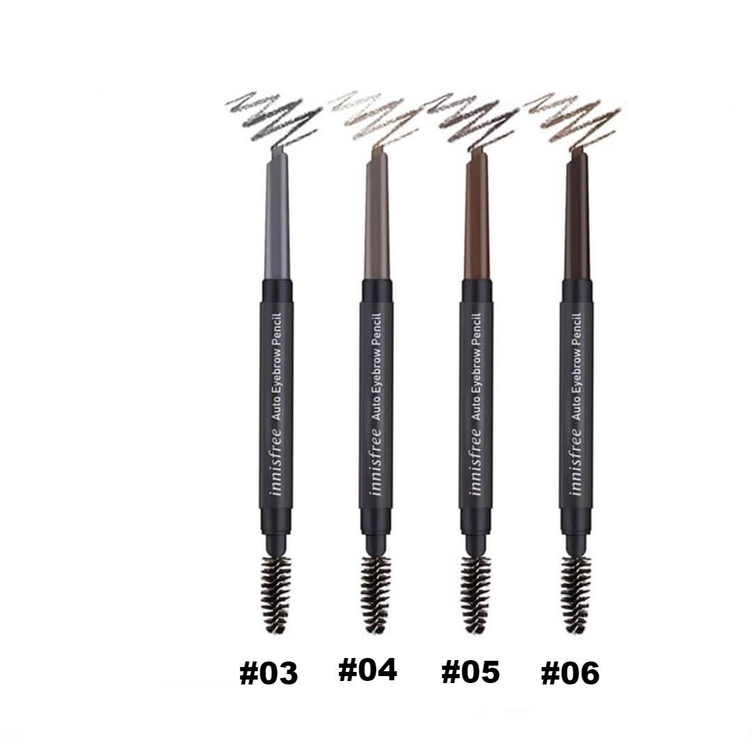 Chì Mày Innisfree Auto Eyebrow Pencil (Vỏ Đen) #06
