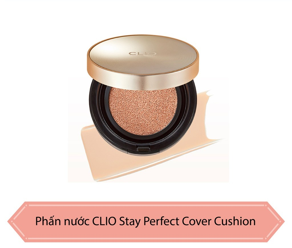 Cushion Clio Stay Perfect Cover (+ Refill) #3-BY Linen