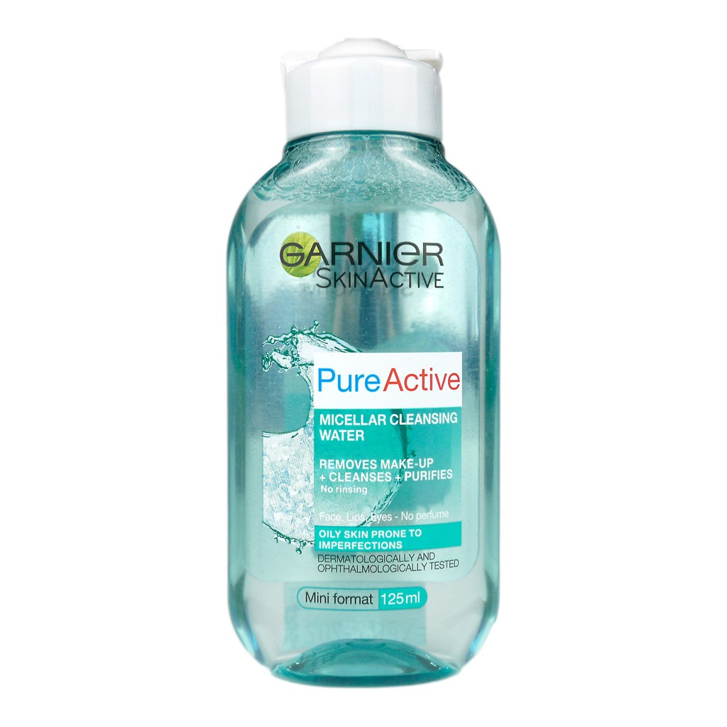 Tẩy Trang Garnier Pure Active Micellar Cleansing Water 125ml (Xanh)