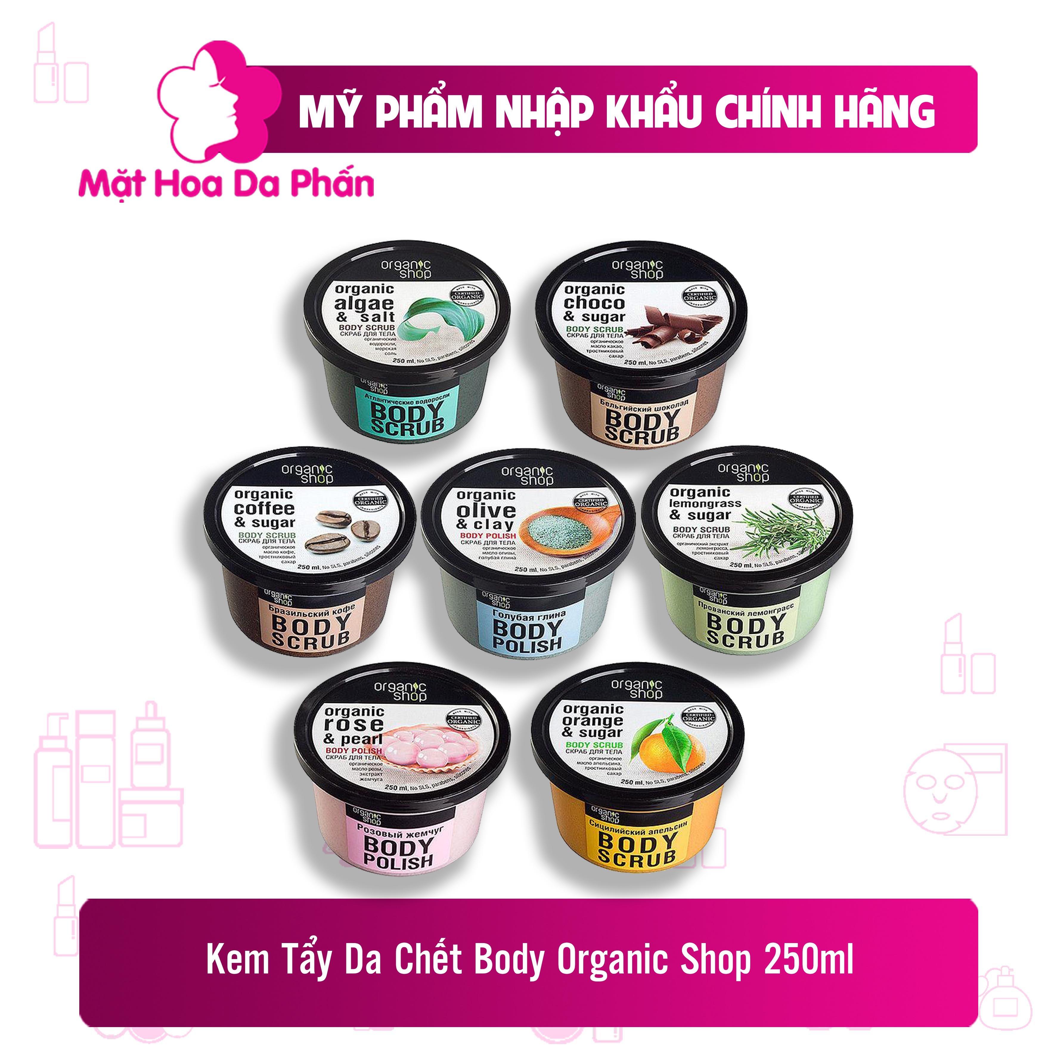 Tẩy Da Chết Toàn Thân Organic Shop Rose &Salt Body Scrub 250ml