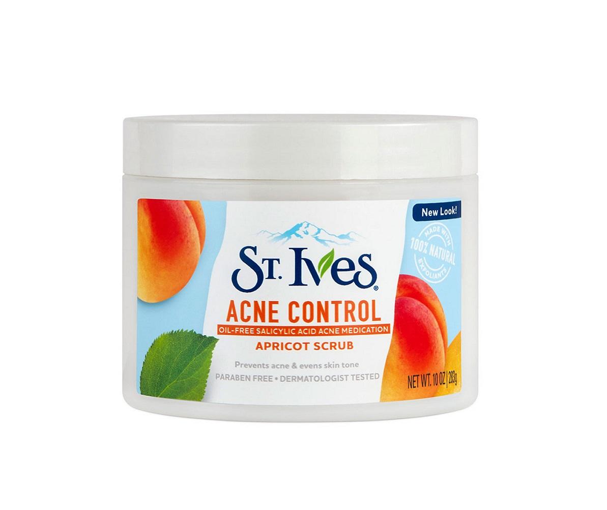 SRM ST.Ives Apricot Scrub 283G #Acne Control (Xanh Dương)