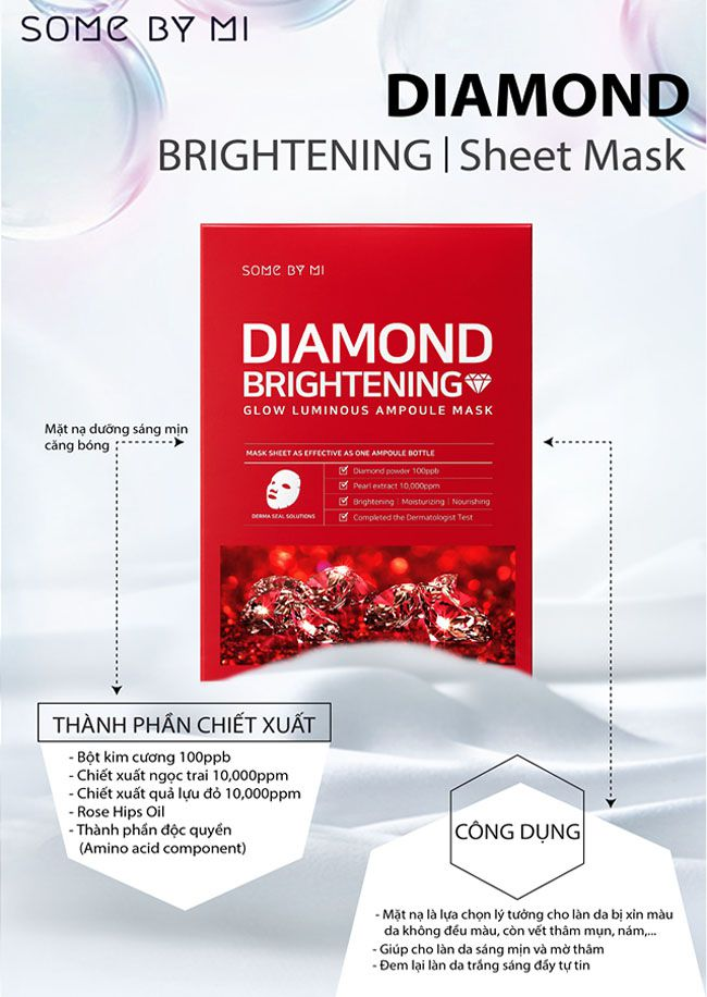 Mặt Nạ Some By Mi Diamond Brightening Glow Luminous Ampoule Mask