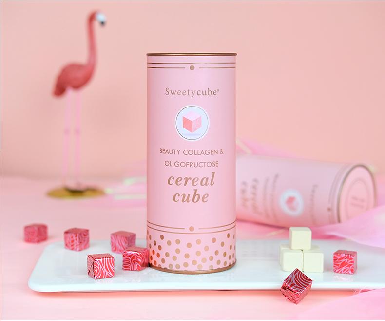 TPCN Viên Uống Sweety Cube Beauty Collagen & Oligofructose (Hồng)