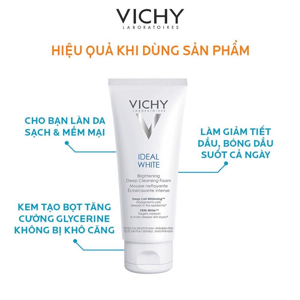 Sữa Rửa Mặt Vichy Ideal White Brightening Deep Whitening Cleansing Foam (100ml) CTY