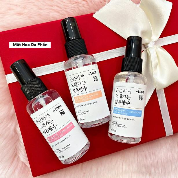 Xịt Thơm Quần Áo Fabric Perfume Hàn Quốc 60ml
