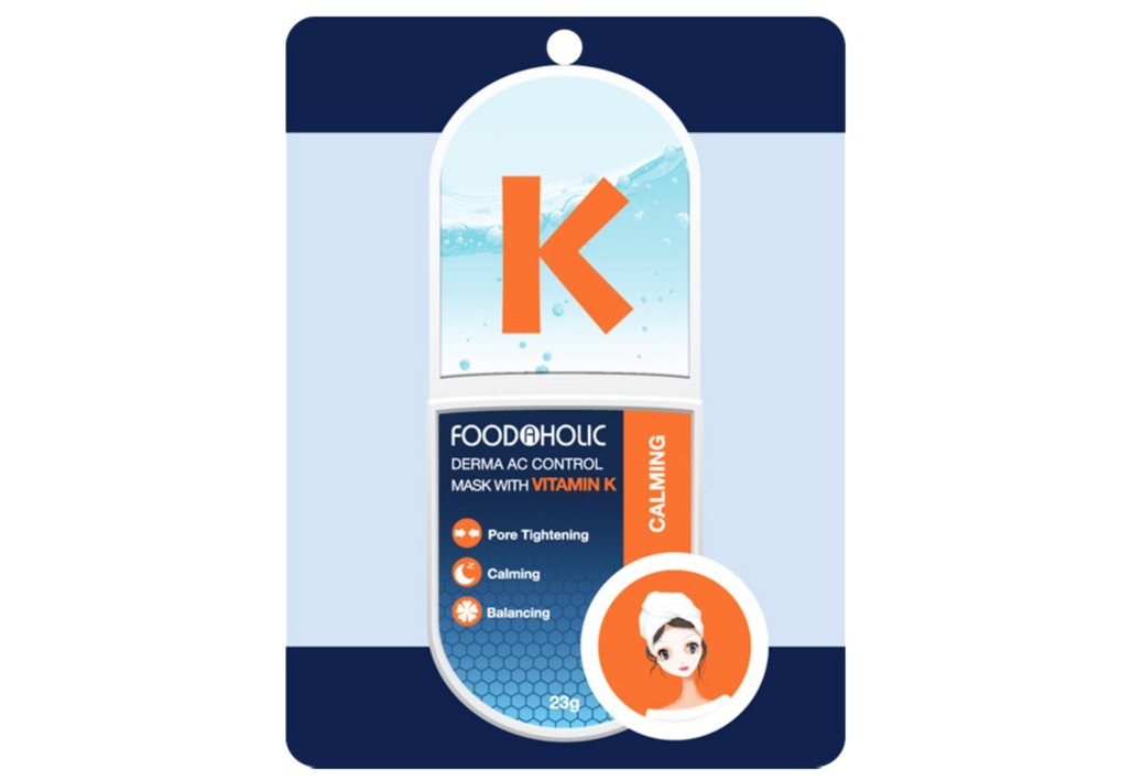 Mặt Nạ Foodaholic Derma AC Control Mask With Vitamin K