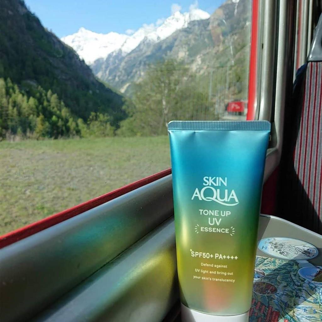 Kem Chống Nắng Skin Aqua Tone Up UV Essence SPF50+ PA++++ Mint Green 80Gr