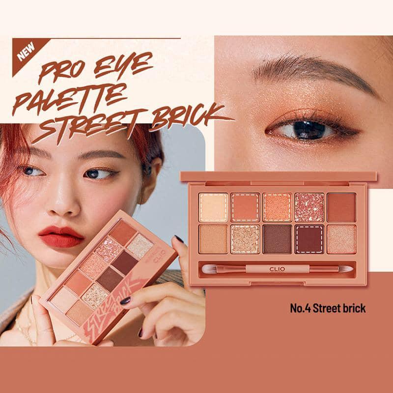 Phấn Mắt Clio Pro Eye Palette 04 Street Brick