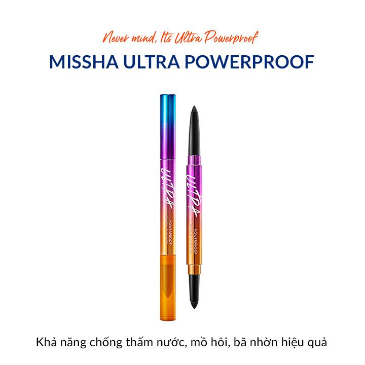 Kẻ Mắt Missha Ultra Powerproof Pencil Eyeliner #Black