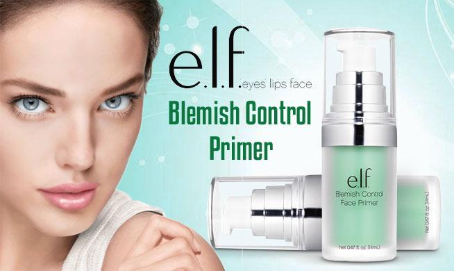 Kem Lót E.L.F Face Primer Clear 14ml #Blemish Control (Xanh Đậm)