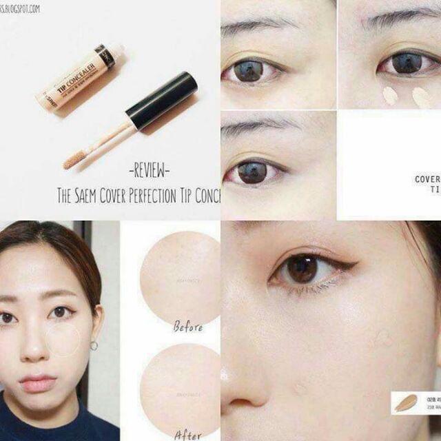 CKĐ The Saem Cover Perfection Tip Concealer #1.25 (cây)