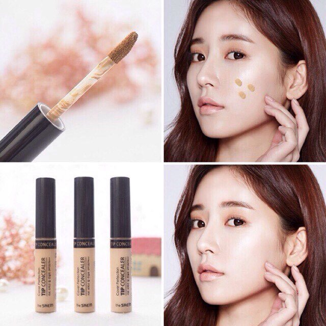 Che Khuyết Điểm The Saem Cover Perfection Tip Concealer 6.5gr #0.5