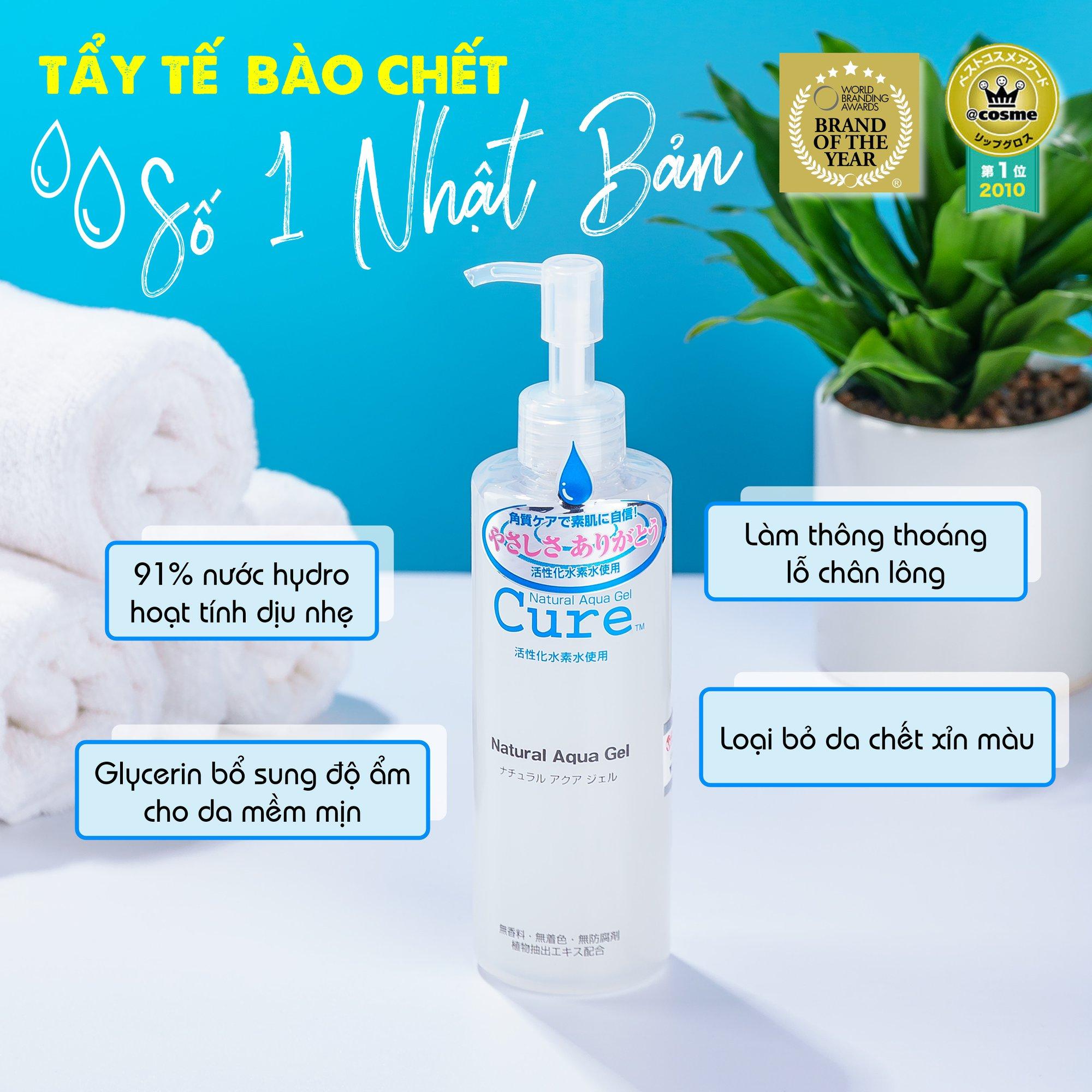 Tẩy TBC Cure Natural Aqua Gel 250G (New)