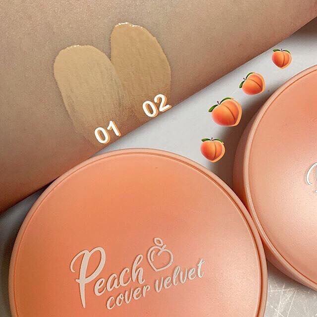 Cushion Black Rouge Peach Cover Velvet No.CP02 (Hộp)