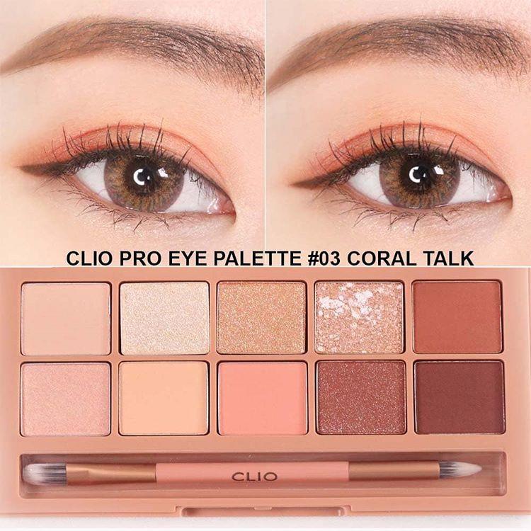 Màu Mắt Clio Pro Eye Palette 10 Ô #03 Coral Talk