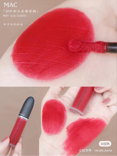 Son Kem Mac Powder Kiss Liquid Lipcolour Màu 987 M-A-Csmash