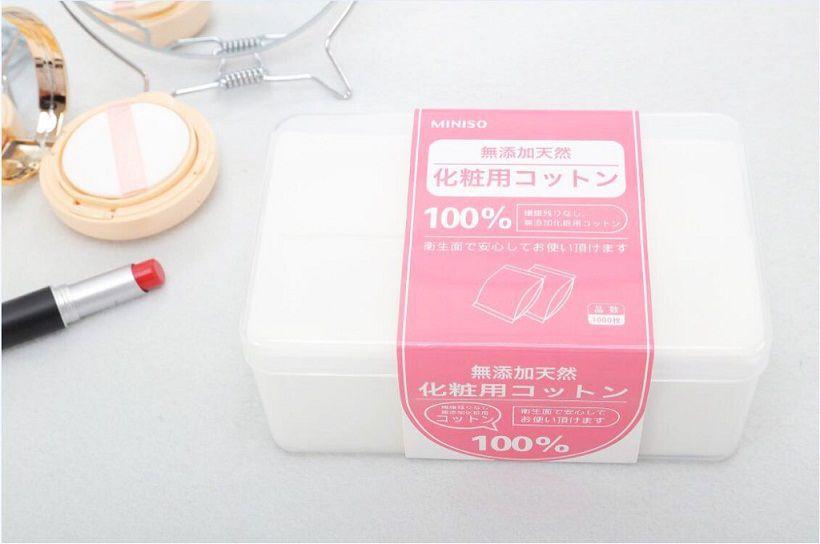 Bông Tẩy Trang Miniso Natural Cotton Pads 1000 miếng