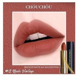 Son Chou Chou Premium Matte 14K Gold Edition #02 Nude Vintage