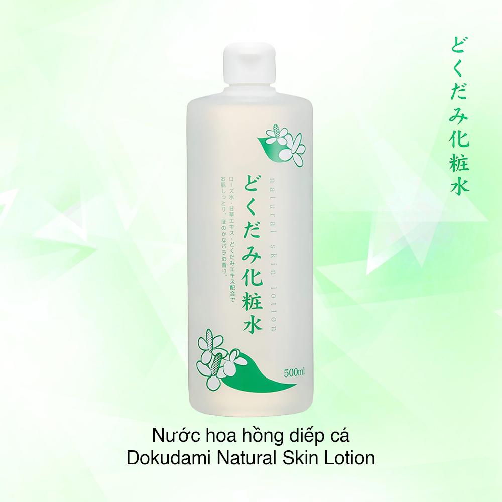 Nước Cân Bằng Natural Skin Lotion 500ml #Diếp Cá (Xanh)