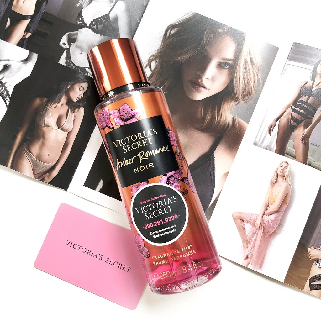 Xịt Body Victoria'S Secret Amber Romance Noir 250Mml