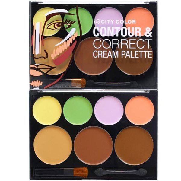 Tạo Khối Contour & Correct Cream Palette City Color