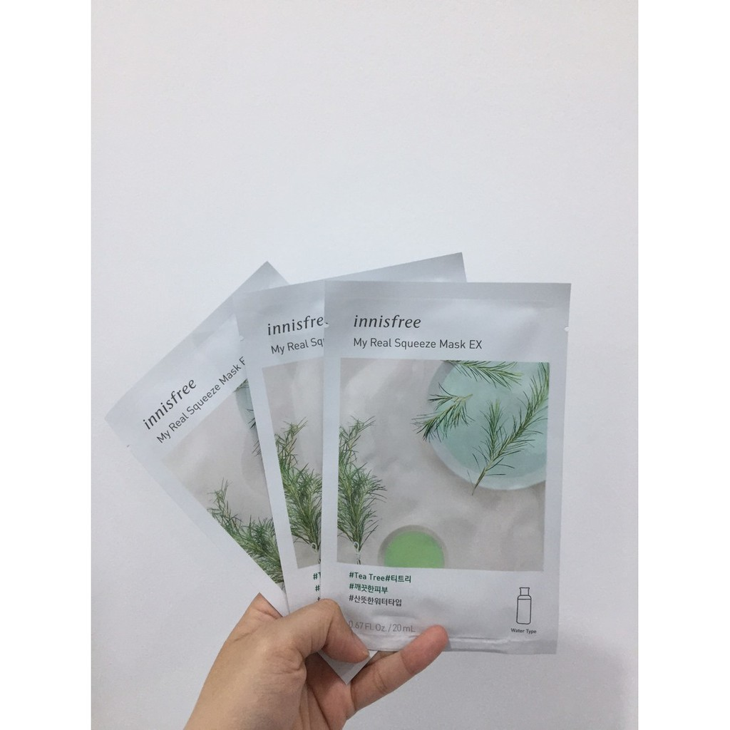 Mặt Nạ Innisfree My Real Squeeze Mask Ex #Tea Tree