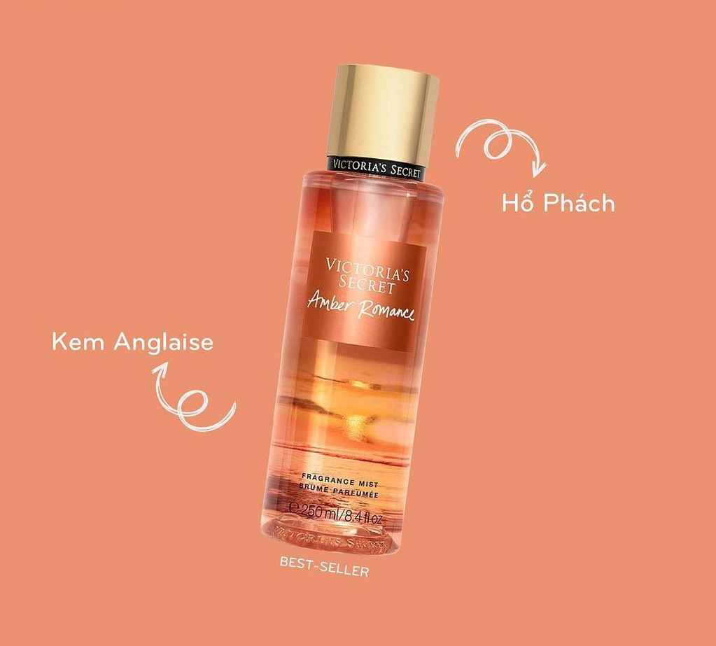 Xịt Body Victoria'S Secret 250ml #Amber Romance