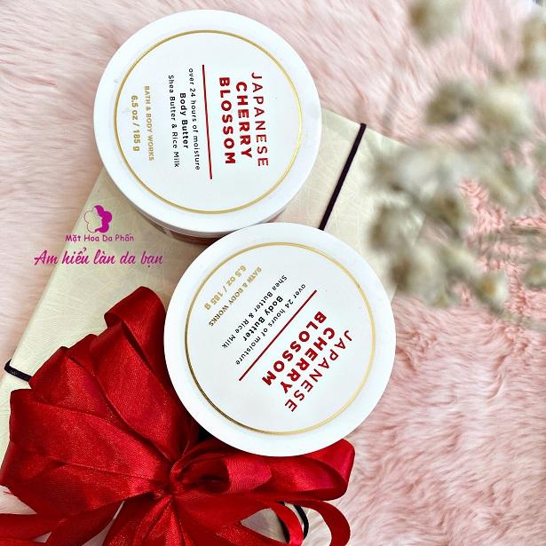 Dưỡng Thể BBW Shea Butter & Rice Milk185g #Japanese Cherry Blossom
